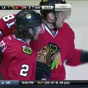 Duncan Keith Goal on Jonathan Quick (01:37/2nd)