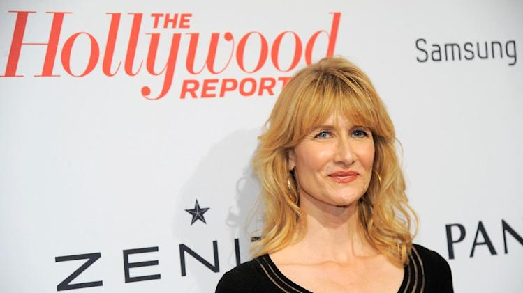 IMAGE DISTRIBUTED FOR THE HOLLYWOOD REPORTER - Laura Dern arrives at The Hollywood Reporter Nominees' Night at Spago on Monday, Feb. 4, 2013, in Beverly Hills, Calif. (Photo by Chris Pizzello/Invision for The Hollywood Reporter/AP Images)