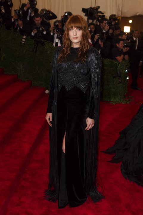 Singer Florence Welch arrives at the Metropolitan Museum of Art Costume Institute Benefit celebrating the opening of