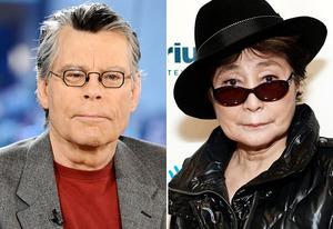 Stephen King, Yoko Ono | Photo Credits: Peter Kramer/NBC/Getty Images, Robin Marchant/Getty Images