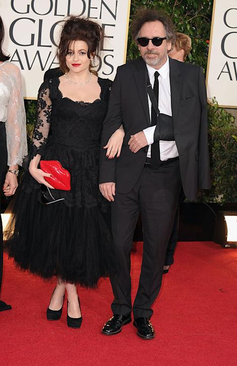 70th Annual Golden Globe Awards - Arrivals: Helena Bonham Carter and Tim Burton