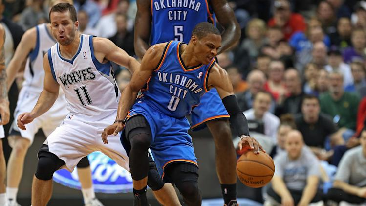 NBA: Oklahoma City Thunder at Minnesota Timberwolves
