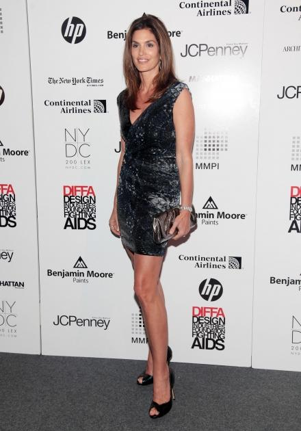 Cindy Crawford attends DIFFA's Dining By Design New York 2010 at Pier 94 in New York City on March 22, 2010  -- Getty Images