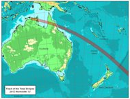 Jay Anderson generated a series of detailed eclipse maps for the solar eclipse of Nov. 13, 2012.