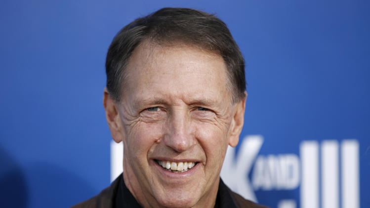 """Director Dennis Dugan arrives at the premiere of """"Jack and Jill"""", Sunday, Nov. 6, 2011, in Los Angeles. """"Jack and Jill"""" opens in theaters Nov. 11, 2011.(AP Photo/Matt Sayles)"""