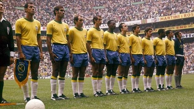 The legendary 1970 Brazil World Cup-winning team