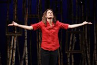 "This undated theater image released by Karen Greco Public Relations shows Dulcy Rogers during a performance of ""I am a Tree,"" at the Theatre at St. Clement's in New York. (AP Photo/Karen Greco Public Relations, Carol Rosegg)"