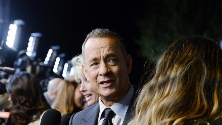 "Tom Hanks attends the film premiere of ""Saving Mr. Banks"" in Burbank"