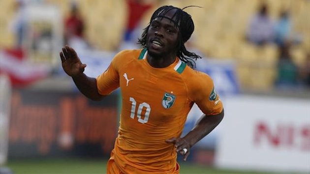 Ivory Coast&#39;s Gervinho celebrates his goal against Togo during their African Nations Cup (AFCON 2013) Group D match in Rustenburg