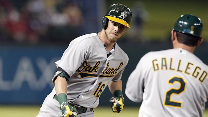 A's closer to wild card after 6-2 win at Texas