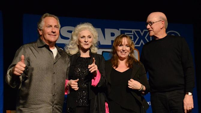 """Songwriters Jon Lind, Judy Collins, Gretchen Peters, Randy Goodrum performing at the 8th Annual ASCAP """"I Create Music"""" EXPO, on Friday, April 19, 2013 in Hollywood, California. (Photo by Tonya Wise/Invision for ASCAP/AP Images)"""