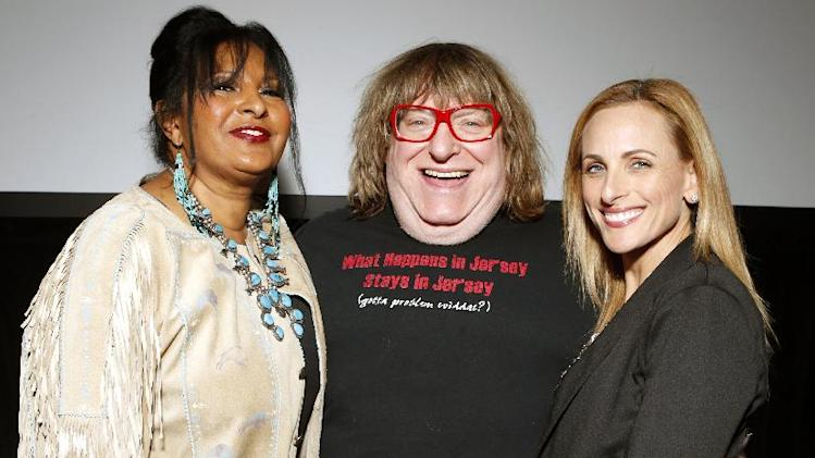 Pam Grier, Bruce Vilanch and Marlee Matlin are seen at the Visionary Awards benefiting the Entertainment AIDS Alliance, on Wednesday, Nov. 14, 2012 in Los Angeles. (Photo by Todd Williamson/Invision for the Entertainment AIDS Alliance/AP Images)
