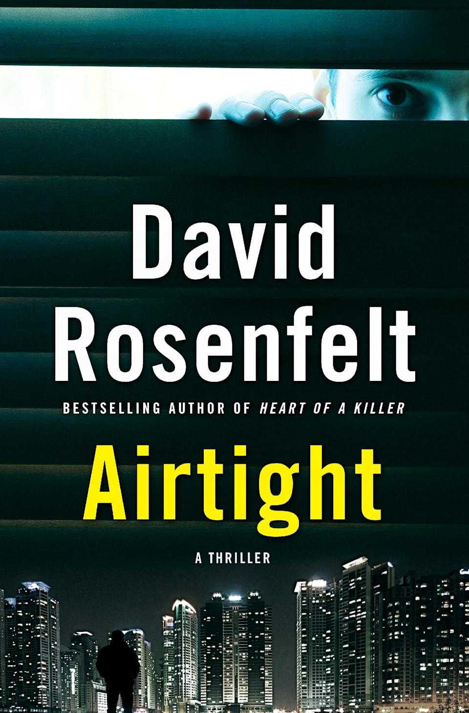 "This publicity photo provided by Minotaur Books shows the cover of author David Rosenfelt's book, ""Airtight,"" published by Minotaur Books. (AP Photo/Minotaur Books)"