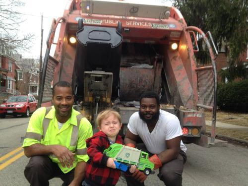 Adorable Toddler Loses It When He Meets the Garbage Men He Loves