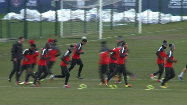 PSG train ahead of Valencia Champions League clash