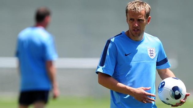 England's Phil Neville during training at Netanya Training ground, Netanya (Reuters)