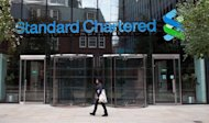 The headquarters of Standard Chartered Bank in London. British bank Standard Chartered will pay the United States $327 mn to settle charges it violated US sanctions on Iran, Myanmar, Libya and Sudan, the US Treasury announced Monday