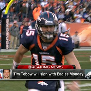 Quarterback Tim Tebow will sign with Philadelphia Eagles