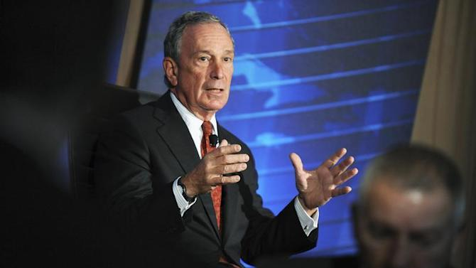 New York City Mayor Bloomberg speaks during the meeting of the Wall Street Journal CEO Council in Washington