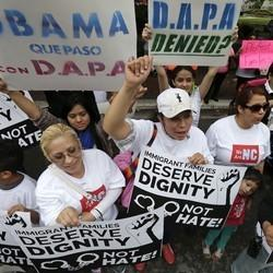 Immigrants Rally Outside Appeals Court Over Obama Executive Actions