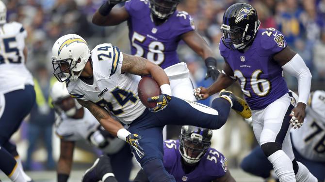 Chargers running back Mathews rule out of KC game