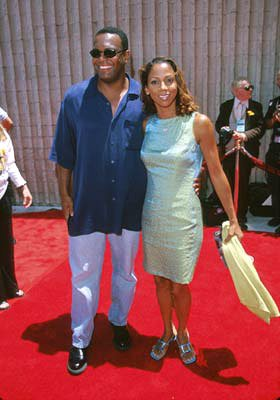 Premiere: Holly Robinson Peete with husband Rodney Peete at the Westwood premiere of 20th Century Fox's Star Wars: Episode I - The Phantom Menace - 5/16/1999 