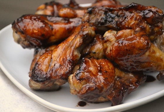 Sticky Lemonade Chicken Wings