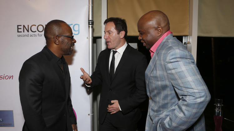 Lennie James, Jason Isaacs and Steve Harris attend A New Way of Life Reentry Project 14th Annual Fundraising Gala on Sunday December 9, 2012 in Los Angeles, California.  (Photo by Todd Williamson/Invision/AP Images)