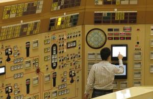 File photo of an employee checking a screen in a simulation of a control room at a Belgian nuclear power station in Tihange