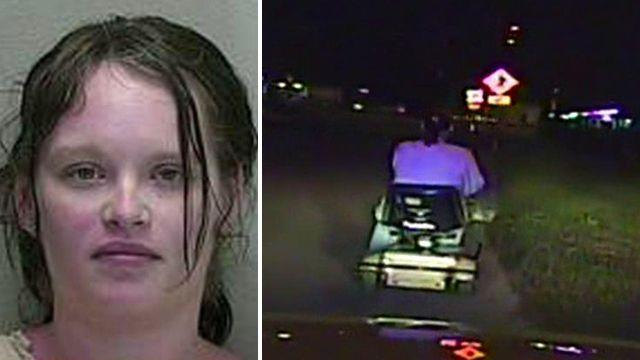 Slow-speed chase: Cops catch woman on stolen scooter
