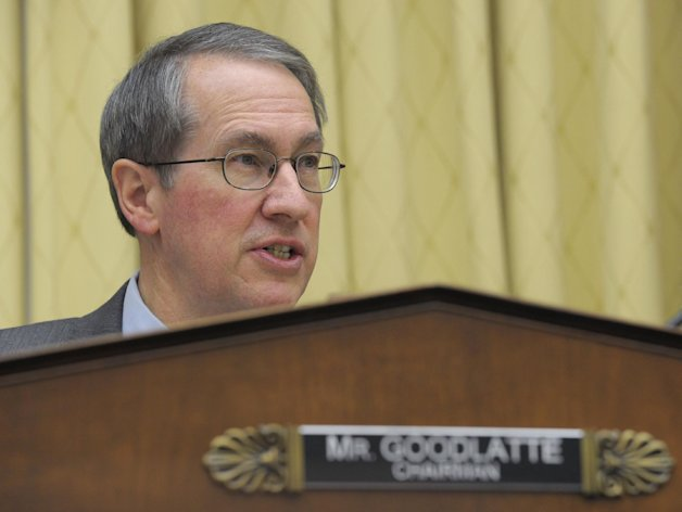 House Judiciary Committee Chairman Rep. Bob Goodlatte, R-Va., gives his opening remarks on Capitol Hill in Washington, Tuesday, Feb. 5, 2013, prior to the committee&#39;s hearing on America&#39;s Immigration System: Opportunities for Legal Immigration and Enforcement of Laws against Illegal Immigration. (AP Photo/Susan Walsh)