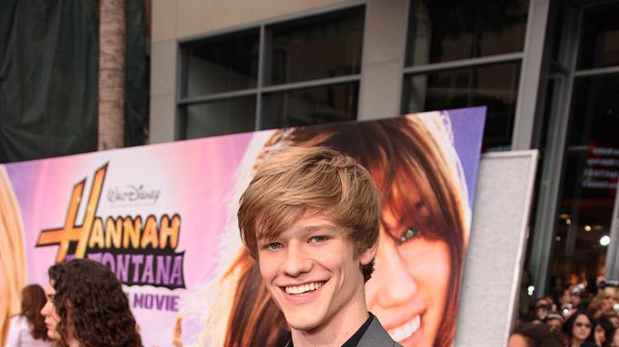 The Hannah Montana Movie LA premiere 2009 Lucas Till