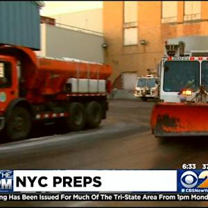 NYC Prepares For Possible Record Snowfall