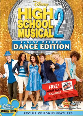 DVD box art for the 2-Disc Dance Edition of Walt Disney Pictures' High School Musical 2