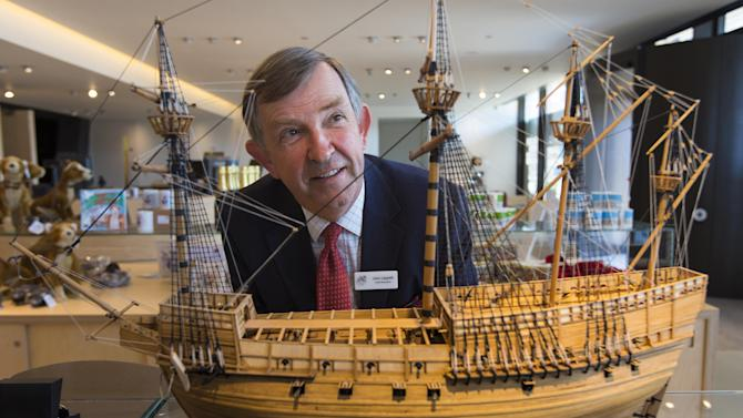 ADDS THE DATE - In this April 25, 2013 photo, John Lippiett, chief executive of The Mary Rose Trust is pictured at the new Mary Rose Museum which will open to visitors Friday, May 31, 2013, at Portsmouth Historic Dockyard, southern England. The remains of a Tudor warship that sank more than 400 years ago will be displayed along with thousands of its artifacts for the first time at the new British museum. (AP Photo/PA, Chris Ison) UNITED KINGDOM OUT NO SALES NO ARCHIVE