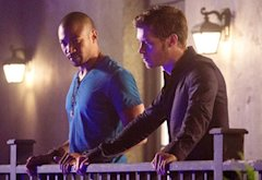 Charles Michael Davis and Joseph Morgan | Photo Credits: Bob Mahoney/The CW