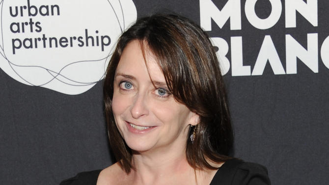 """FILE - This Nov. 14, 2011 file photo shows actress Rachel Dratch at the """"24 Hour Play"""" after-party at B.B. King Blues Club in New York. Dratch and Mo Rocca will be getting down and dirty next month in a play about political sex scandals. The duo will star in """"Tail! Spin,"""" a verbatim mash-up of the public interviews, secret e-mails, raunchy texts and Twitter gaffes that brought down such politicians as former South Carolina Gov. Mark Sanford, ex-Rep. Anthony Wiener, ex-Rep. Mark Foley and former Sen. Larry Craig. (AP Photo/Evan Agostini, file)"""