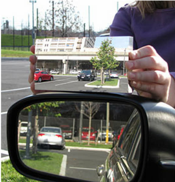New Vehicle Side Mirror Eliminates Driver Blind Spot