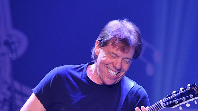 "Musician George Thorogood performs at ""Play It Forward: A Celebration of Music's Evolution and Influencers"" at the Grammy Foundation's 15th Annual Music Preservation Project, Thursday, Feb. 7, 2013, in Los Angeles. (Photo by Vince Bucci/Invision/AP)"