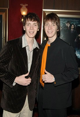 James Phelps and Oliver Phelps at the NY premiere of Warner Bros. Pictures' Harry Potter and the Goblet of Fire