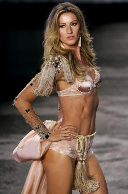 Gisele Bundchen walks the runway to show her collection of lingerie brand in partnership with Hope in Sao Paulo, Brazil on May 12, 2011  -- Getty Premium