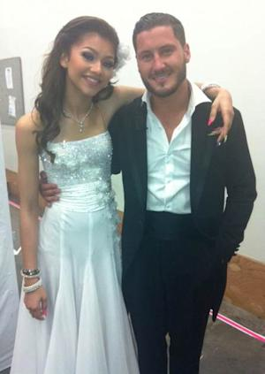 Zendaya and Val Chmerkovskiy backstage at 'Dancing with the Stars' -- Access Hollywood