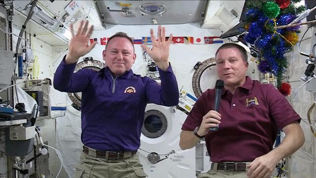 Out-of-this-world Christmas for astronauts aboard ISS