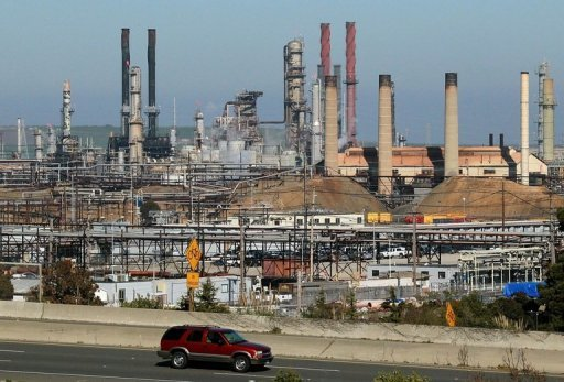"<p>This file photo shows Chevron refinery in Richmond, California, pictured in 2011. A US watchdog agency launched an investigation on Saturday into the ""near-disaster,"" August 6, fire at the oil giant's refinery that nearly killed workers.</p>"