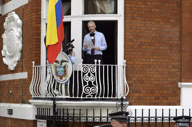 > Aug 19 - Assange speaks from Ecuador embassy balcony, slams U.S. witch hunt - Photo posted in BX Daily Bugle - news and headlines | Sign in and leave a comment below!