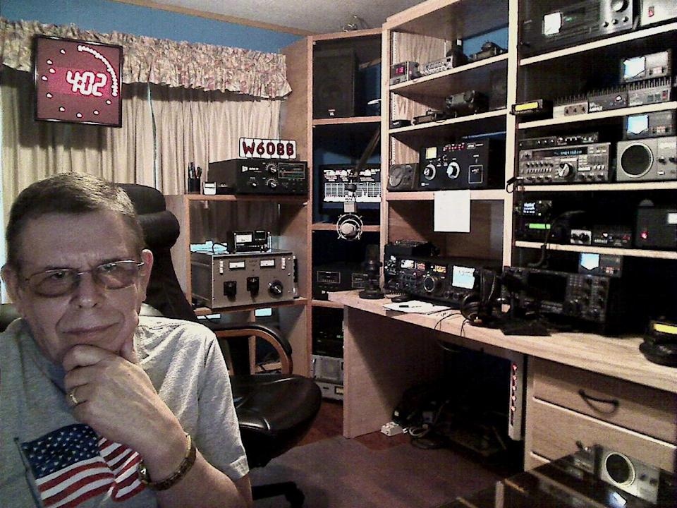 This publicity image released by SiriusXM shows Art Bell his home studio in Pahrump, Nev. Bell, radio's master of the paranormal and outward edges of science, will return to the microphone on September 15 with a new nighttime show on Sirius XM radio. (AP Photo/SiriusXM)