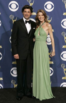 Presenters Patrick Dempsey and Ellen Pompeo 57th Annual Emmy Awards Press Room - 9/18/2005