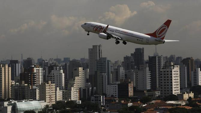 Brazilian airline Gol's Boeing 737-800 aircraft takes off at Congonhas airport in Sao Paulo