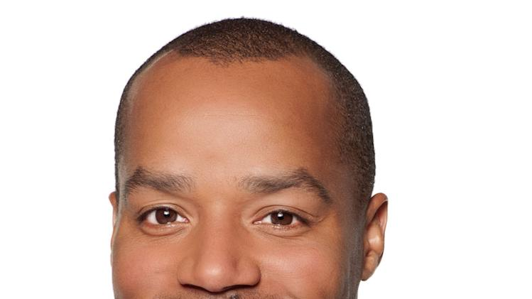 "Donald Faison stars as Phil Chase in ""The Exes."""