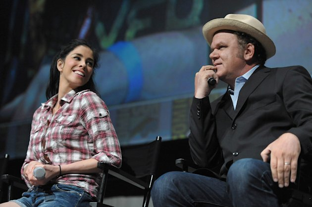 "Sarah Silverman and John C. Reilly attend Disney's ""Wreck-It Ralph"" panel at Comic-Con on Thursday, July 12, 2012 in San Diego, Calif. (Photo by John Shearer/Invision/AP)"